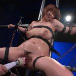 Iカップ100cmの爆乳マゾ、松本菜奈実!鉄パイプに拘束されて電マでイキまくり!